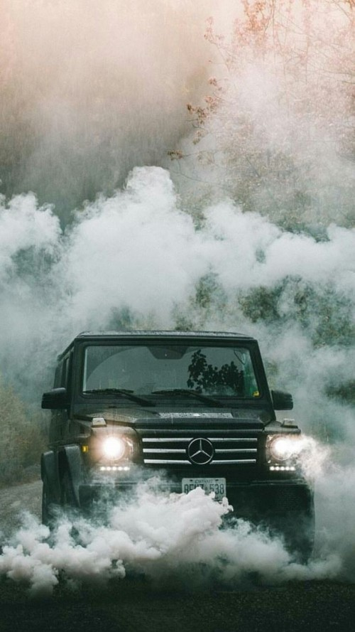 #merc #g63 #smoke #wallpaper #tristar #headlamps…
